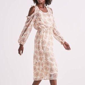 Lucky Brand Floral Cold Shoulder Dress